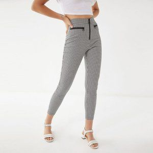 Urban Outfitters Gingham High Rise Zip Front Pants